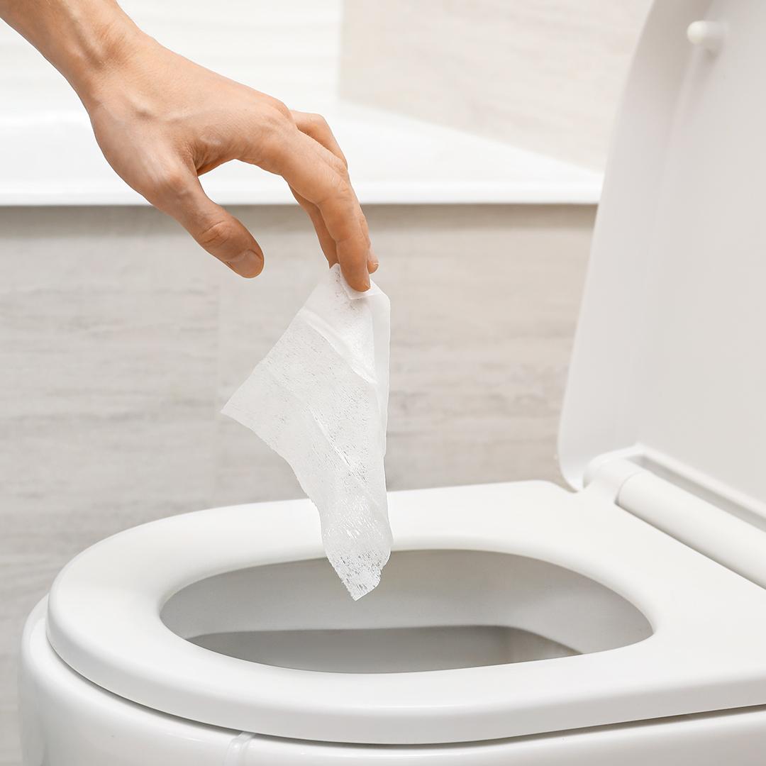Dymacare flushable wipes